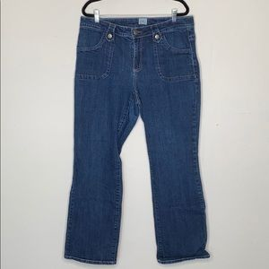 Just my size square stitch bootcut jeans